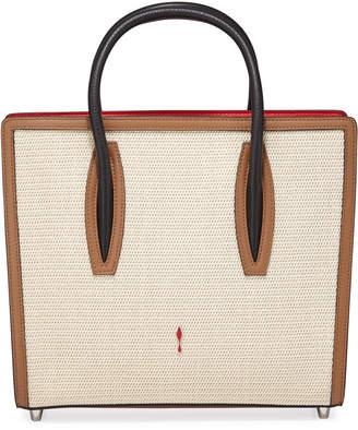 Christian Louboutin Paloma Medium Tresse Alfa Tote Bag with Sneaker Sole