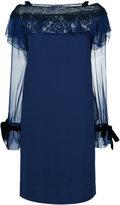 Alberta Ferretti lace insert shift dress