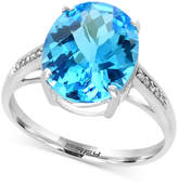 Effy Ocean Bleu Blue Topaz (6 ct. t.w.) and Diamond Accent Ring in 14k White Gold