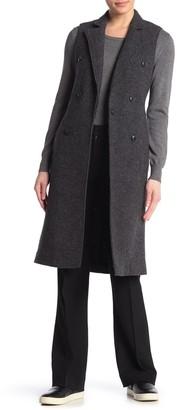 Rag & Bone Faye Longline Double Breasted Wool Blend Vest
