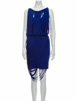 Herve Leger Leilei Mini Dress Blue