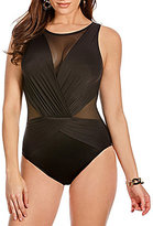 Miraclesuit Solid Illusionist Palma DD Mesh One-Piece