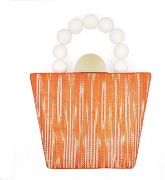 Soli & Sun The Darcy Orange Woven Handbag