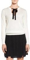 MICHAEL Michael Kors Women's Velvet Tie Sequin Sweater