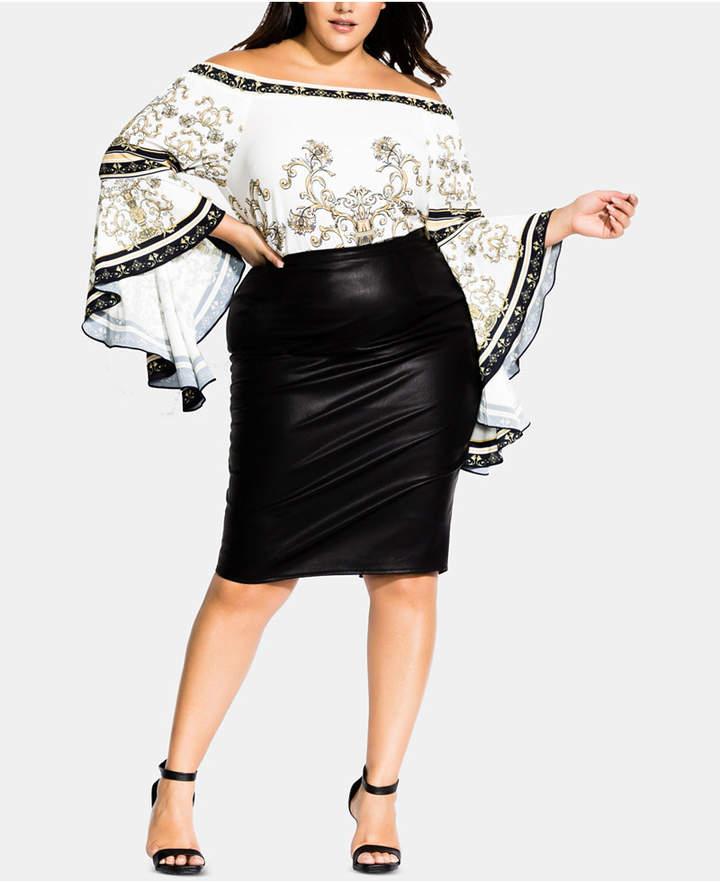 dc6e9b2919 Plus Size Leather Skirt - ShopStyle