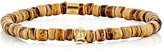 Emanuele Bicocchi Men's Beaded Bracelet-Brown