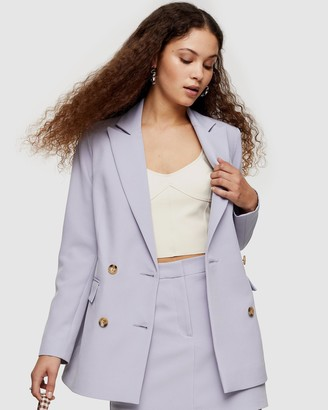 Topshop Double Breasted Blazer with Buttons
