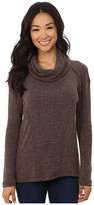 Mod-o-doc Luxe Heather Sweater Knit Long Sleeve Drape Cowl Neck Pullover