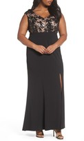 Adrianna Papell Plus Size Women's Beaded Gown
