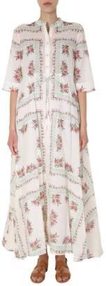 Tory Burch Floral Printed Maxi Dress
