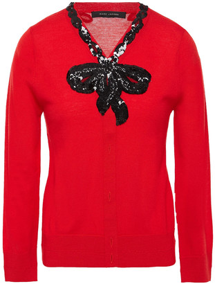 Marc Jacobs Sequin-embellished Melange Wool Sweater