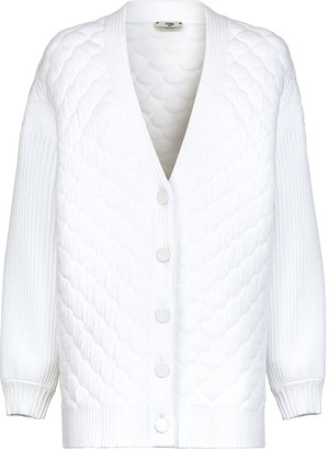 Fendi Quilted Button-Front Cardigan