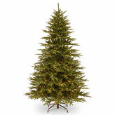 NATIONAL TREE CO National Tree Co 7 1/2 Feet Monterey Fir Hinged Memory-Shape Pre-Lit Christmas Tree