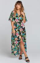 MUMU Get Twisted Maxi Dress ~ Royal Hawaiian