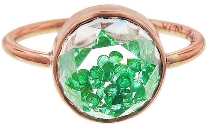 Moritz Glik Emerald Shake Ring - Rose Gold