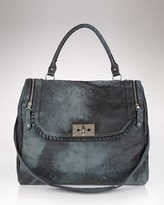 Be  &  D Garrison Distressed Lambskin Satchel