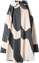 Milly wavy print full skirt - women - Cotton/Polyester - 4