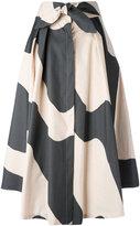 Milly wavy print full skirt - women - Cotton/Polyester - 6