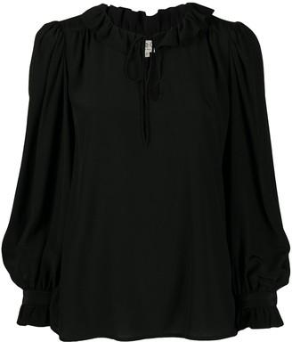 Sea Zig Zag Sleeve Detail Shirt
