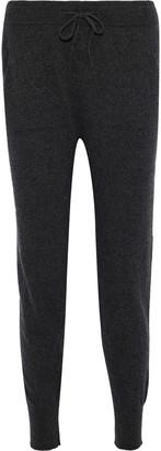 Iris & Ink Jane Melange Cashmere And Wool-blend Track Pants