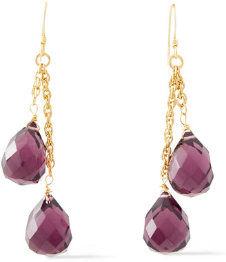 Kenneth Jay Lane Gold-plated Bead Earrings
