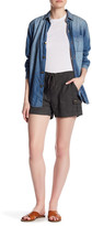 Susina Drawstring Utility Linen Blend Shorts