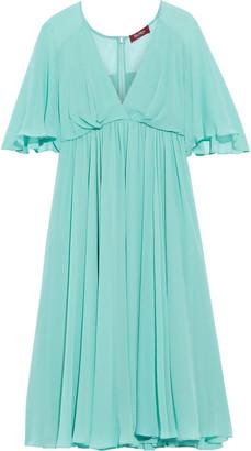 Max Mara Edoardo Gathered Silk-chiffon Dress