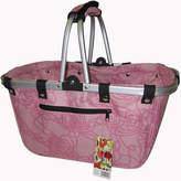 Asstd National Brand JanetBasket Large Rosy Aluminum Frame Basket