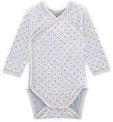 Petit Bateau Newborn baby boys bodysuit in tube knit