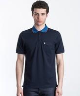 Luke 1977 Landbright Striped Collar Polo Shirt