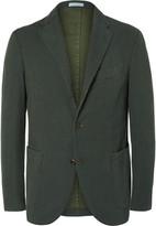 Boglioli Green Slim-Fit Stretch-Cotton Corduroy Suit Jacket