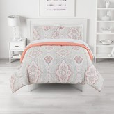 The Big One Reversible Lexi Damask Coral Comforter Set with Sheets