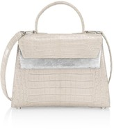 Nancy Gonzalez Small Liza Crocodile & Metallic Lizard Top Handle Bag