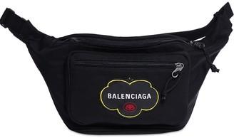 Balenciaga Fruit Logo Nylon Belt Bag