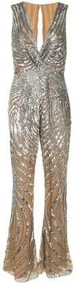 ZUHAIR MURAD Swirl Sequin-Embellished Jumpsuit