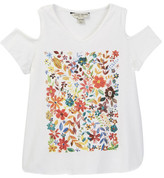 Lucky Brand Penny Floral Cold Shoulder Top (Big Girls)