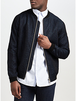 Libertine-libertine Fever Cotton Linen Bomber Jacket, Dark Navy