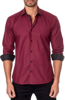 Jared Lang Grid-Print Sport Shirt, Red