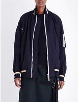 Sacai Oversized cotton-canvas bomber jacket