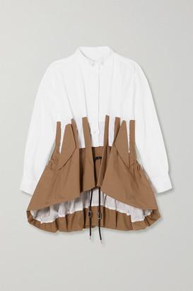 Sacai Panelled Two-tone Poplin Shirt - White