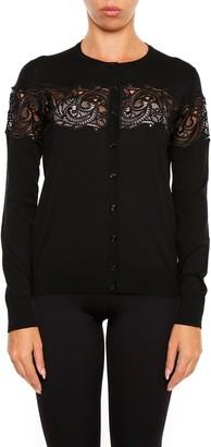 Versace Lace Detail Cardigan