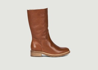 Anthology Paris - Brown Leather 7481 Lined Boots - 36 | brown - Brown/Brown