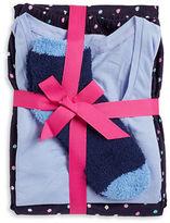 Hue Dotted Pajama Top, Pants and Socks Set