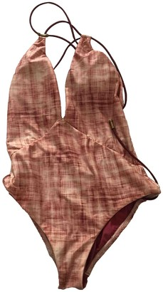 Vix Paula Hermanny Burgundy Lycra Swimwear for Women