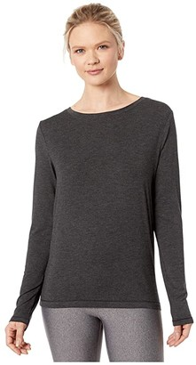 Lole Elisia Long Sleeve (Black Heather) Women's Clothing