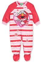 Sesame Street Baby Girls' 1-Piece Footed Pajamas Featuring Elmo - /multi