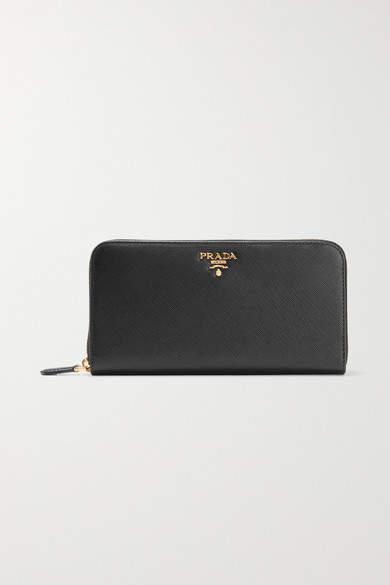 Prada Textured-leather Continental Wallet - Black