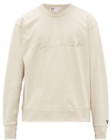 Y-3 Y 3 Logo-print Cotton Sweatshirt - Mens - Beige