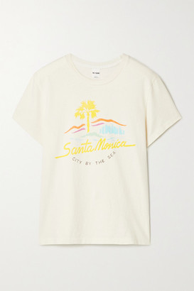 RE/DONE 70s Printed Cotton-jersey T-shirt - Ivory