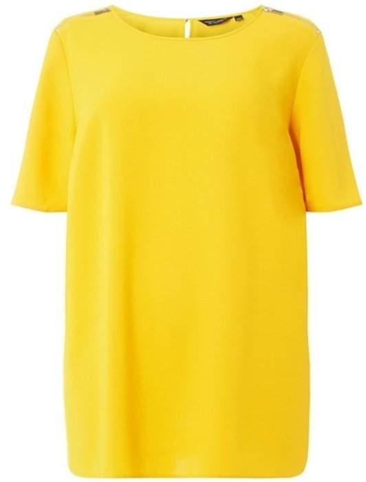 Dorothy Perkins Womens **Dp Curve Yellow Short Sleeve Soft T-Shirt